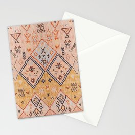 N218 - Mustard Yellow Oriental Heritage Boho Traditional Moroccan Desert Style Stationery Cards