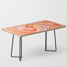 70s Retro Swirl Color Abstract Coffee Table