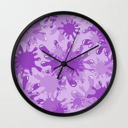 Slime in Lavenders Wall Clock