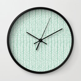 Knit Wave Mint Wall Clock
