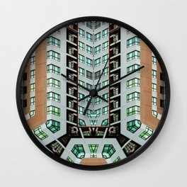 Graphic design futuristic residential Wall Clock