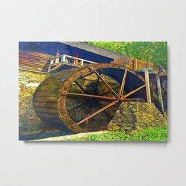 Gristmill Water Wheel Metal Print