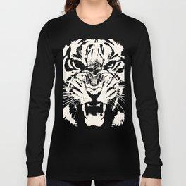 White Tiger Vector Langarmshirt