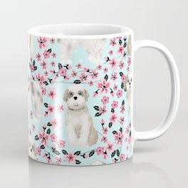 Shih Tzu dog breed florals pattern cherry blossom spring pet friendly gifts Coffee Mug