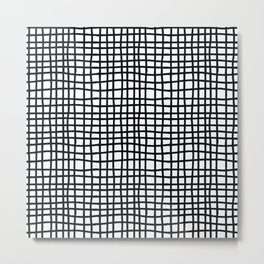 Black Netting Metal Print