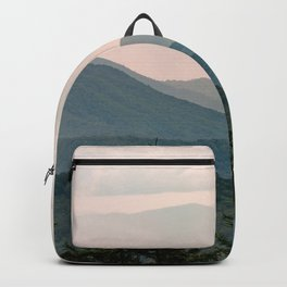 Smoky Mountain Pastel Sunset Backpack
