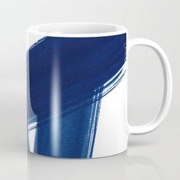 Indigo Abstract Brush Strokes   No. 4 Coffee Mug