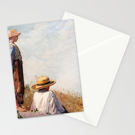 Winslow Homer1 - The Blue Boy - Digital Remastered Edition Stationery Cards