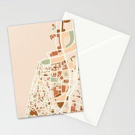 TEL AVIV ISRAEL CITY MAP EARTH TONES Stationery Cards