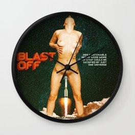 Blast Off - A Quiverish Production - Erotic Collage Art Wall Clock