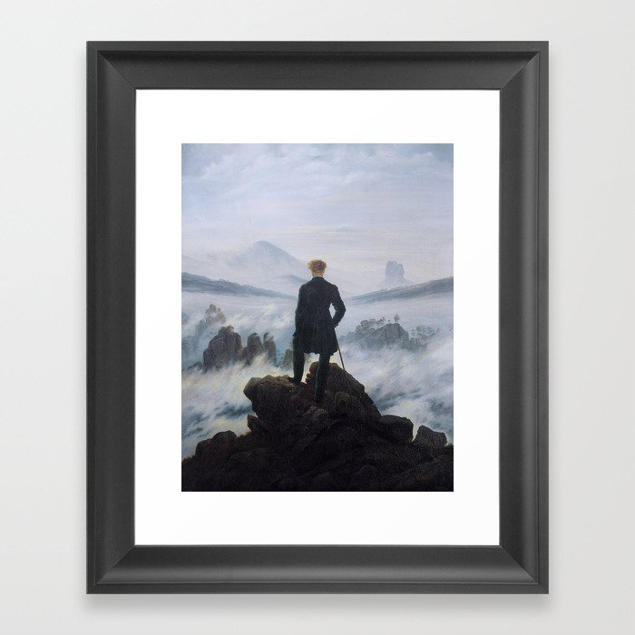 Wanderer above the Sea of Fog Gerahmter Kunstdruck