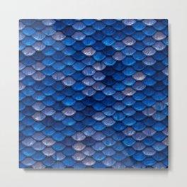 Blue Penny Scales Metal Print