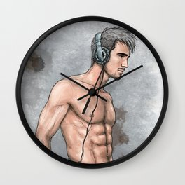 A person The Music Wall Clock