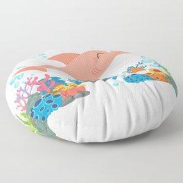 Family Shirt - Grandma Shark Shirt Floor Pillow