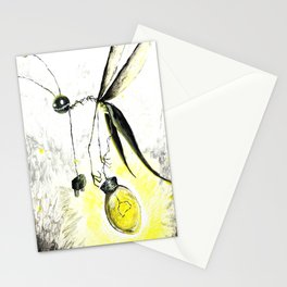 Overworked Lightening Bug Stationery Cards
