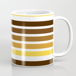 colorful lines warm colors decorative mininal pattern Coffee Mug