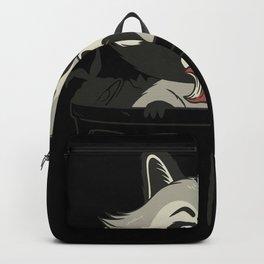 Trash Panda Raccoon eating Garbage Gift Backpack