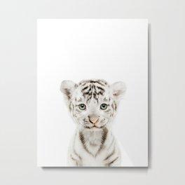 Baby White Tiger Metal Print