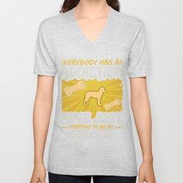Chinook Funny Dog Addiction Unisex V-Neck