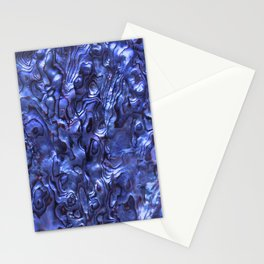 Abalone Shell   Paua Shell   Sea Shells   Patterns in Nature   Dark Blue Tint   Stationery Cards