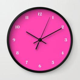 Fluorescent Neon Pink // Pantone 806 U Wall Clock