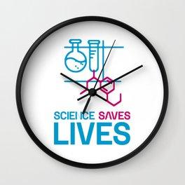 Science Saves Lives Wall Clock