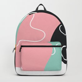 Abstract Graphic Modern Pattern Beautiful Colorful Background Backpack