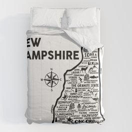 New Hampshire Map Comforters
