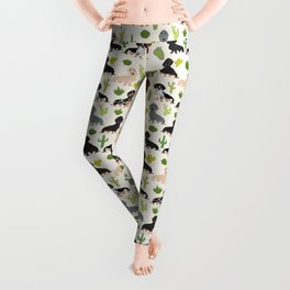 Dachshund cactus southwest dog breed gifts must have doxie dachsies Leggings