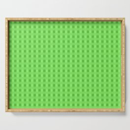 Lime Green Retro Squares Serving Tray