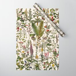 Adolphe Millot - Plantes Medicinales B - French vintage poster Wrapping Paper