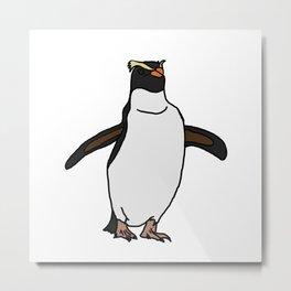Fiordland Penguin Metal Print