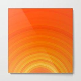 Gradient Semicircle Sun Metal Print