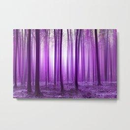 Mystical forest purple 43 Metal Print