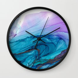 Alcohol Ink Geode Wall Clock