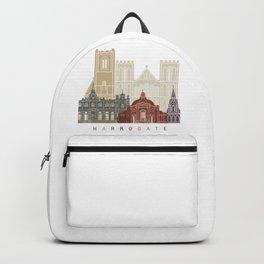 Harrogate skyline poster Backpack