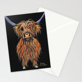 Scottish Highland Cow ' NED ' by Shirley MacArthur Stationery Cards