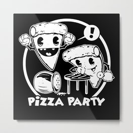 pizza-party-t-shirt Metal Print