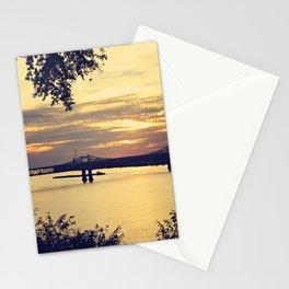 Golden Mississippi River Sunset Stationery Cards