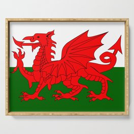 Welsh Dragon Flag Serving Tray