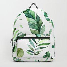 Geen Leafs Pattern Backpack