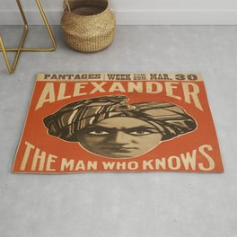 Vintage poster - Alexander, The Man Who Knows Rug