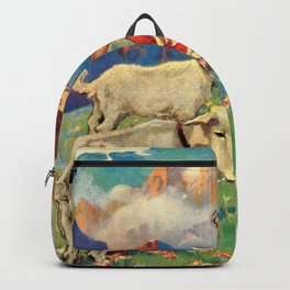Jessie Willcox Smith - Heidi, Girl Of The Alps - Digital Remastered Edition Backpack