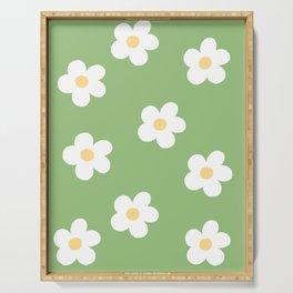 Retro 60's Flower Power Print Serving Tray