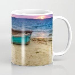 Boat by the sea Coffee Mug