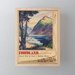 Werbeplakat Fiordland Framed Mini Art Print