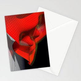 Waved red surface Stationery Cards