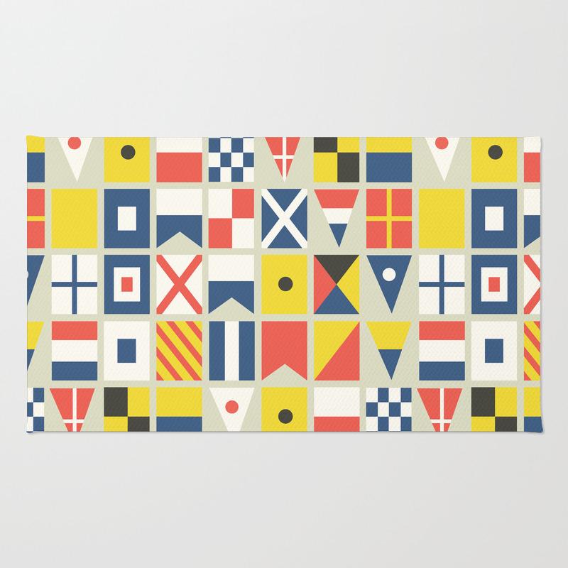 Signal Flag Rug: Nautical Rugs