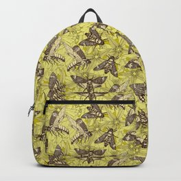 Death's-head hawkmoth chartreuse Backpack