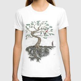 His Sister Buried All his Bones under the Juniper Tree (color) T-shirt